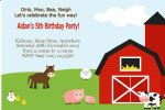 Personalised Farm Yard Invitations